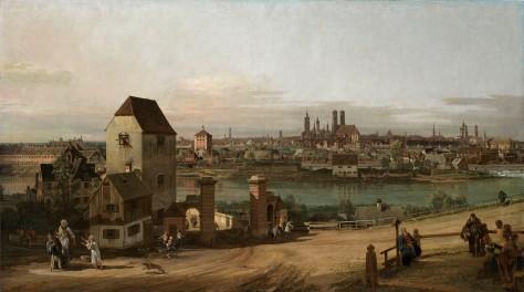 Vista de Múnich desde el Este por Bernardo Bellotto, 1761. Foto: © Alte Pinakothek, Bayerische Staatsgemäldesammlungen, München.